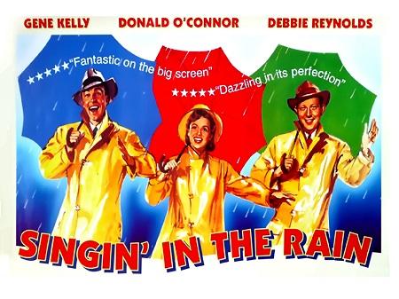 שיר אשיר בגשם   Singing In The Rain  - תמונה על קנבס,מוכנה לתליה.סרטים ישנים שיר אשיר בגשם   Singing In The Rain  - תמונה על קנבס,מוכנה לתליה.