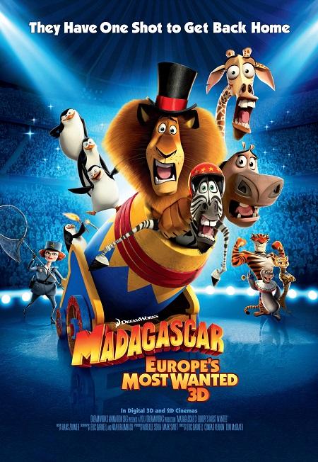 מדגסקר   -   madascar  - אנימציה  תמונה על קנבס,מוכנה לתליה.