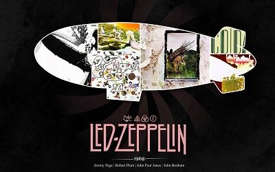 לד זפלין  Led Zeppelin - תמונה על קנבס,מוכנה לתליה.לד זפלין  Led Zeppelin