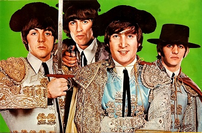 החיפושיות  The Beatles - תמונה על קנבס,מוכנה לתליה.החיפושיות  The Beatles