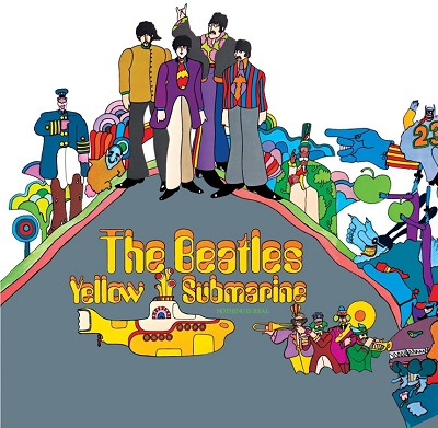 The Beatles - Yellow Submarine - תמונה על קנבס,מוכנה לתליה.The Beatles - Yellow Submarine