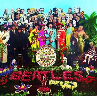 החיפושיות The Beatles Sgt Peppers  - תמונה על קנבס,מוכנה לתליה.החיפושיות The Beatles Sgt Peppers