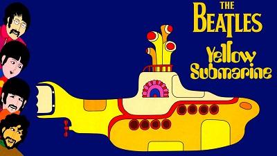 החיפושיות The Beatles  Yellow Sub - תמונה על קנבס,מוכנה לתליה.החיפושיות  אנימציה The Beatles  Yellow Sub