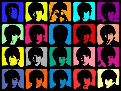 חיפושיות   Andy Warhol  style - תמונה על קנבס,מוכנה לתליה.חיפושיות  Andy Warhol  style