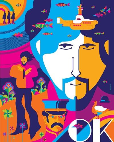 George psychedeila  - תמונה על קנבס,מוכנה לתליה. George psychedeila - תמונה על קנבס,מוכנה לתליה.