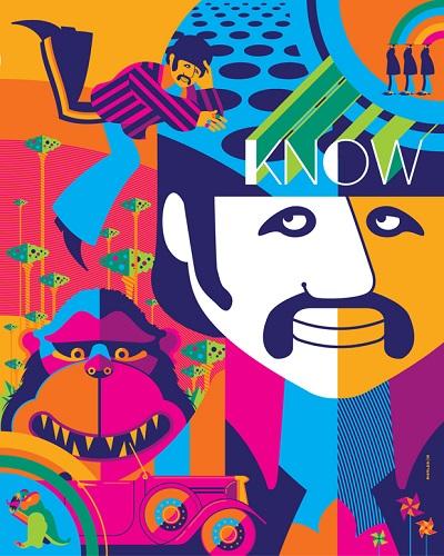 Ringo psychedelia - תמונה על קנבס,מוכנה לתליה.Ringo psychedelia - תמונה על קנבס,מוכנה לתליה.