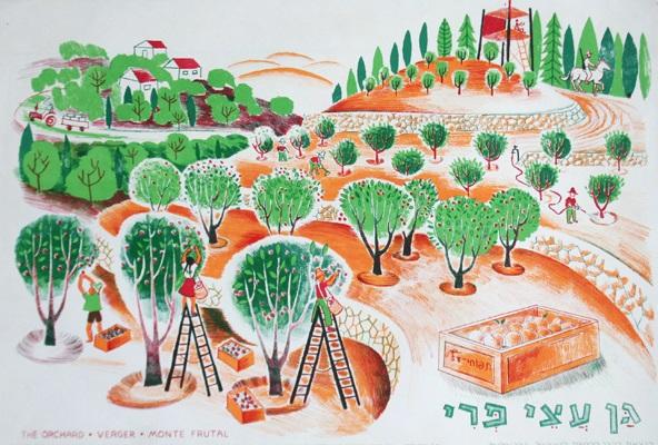נוסטלגיה - גן עצי פרי - כרזות קקלגן עצי פרי
