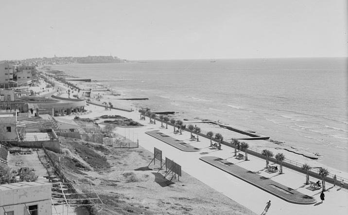 טיילת חוף הים - תל אביב  - תמונה על קנבס,מוכנה לתליה.טיילת חוף הים - תל אביב