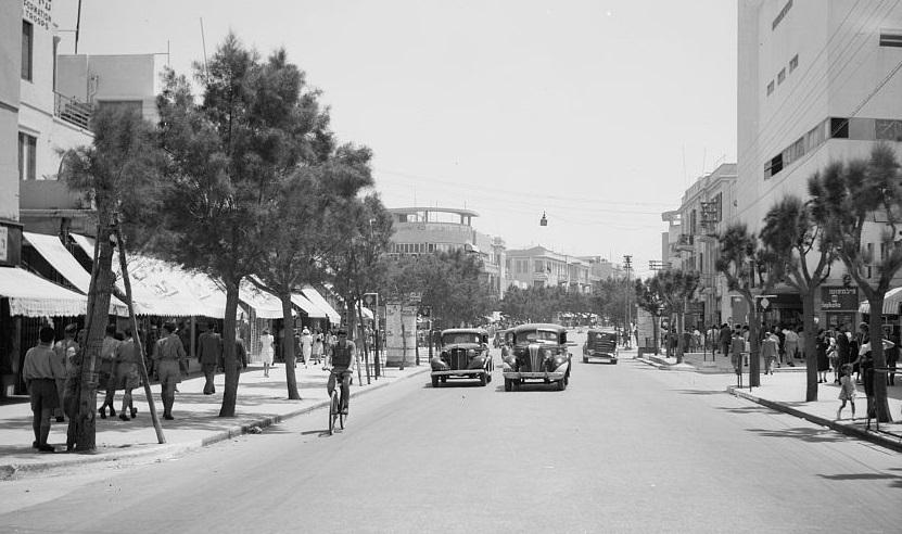 דרך יפו תל אביב  - תמונה על קנבס,מוכנה לתליה.דרך יפו תל אביב