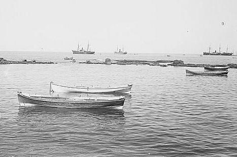 יפו נמל סירות  - תמונה על קנבס,מוכנה לתליה.יפו נמל סירות