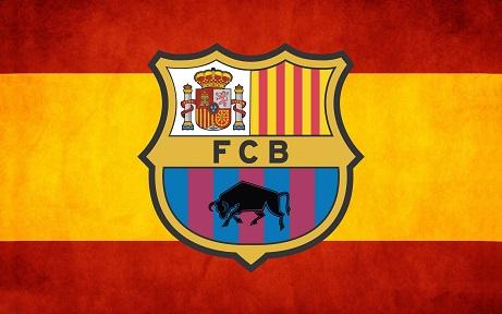ברצלונה לוגו  - תמונה על קנבס,מוכנה לתליה.ברצלונה לוגו  ספרד